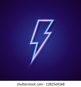 7f508d59 Vector energy lightning bolt logo neon style for electric power logo,  wireless charging, ui