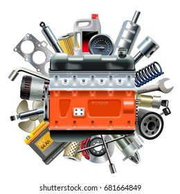 Vector Engine with Car Spares