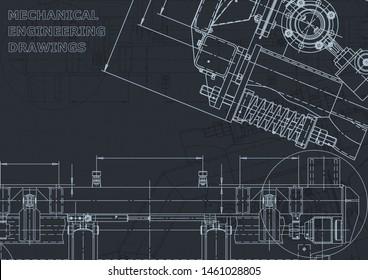 Vector engineering illustration. Mechanical. Instrument-making