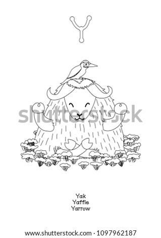 Vector English Alphabet Series Amusing Animals Stock Vector Royalty