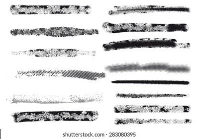 Vector. Engraving brushes set.