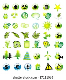 VECTOR Environment icons colletions (42 high detailed glossy icons)