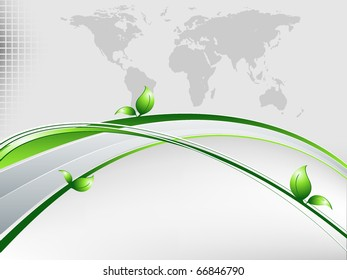 vector environmental background with map and copy space