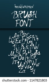 Vector eps 10 alphabet. Lettering set. Hand written sign for every design production.