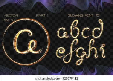 VECTOR eps 10. GLOWING Bengal Sparks FONT 10. Part 1. Character 1 2 3 4 5 6 7 8 9. Bengal Sparks GOLDEN Alphabet. Hand drawn with sparkle brushes. Numeral figure number numeric. More are in the SET