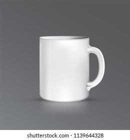 Vector EPS 10. Mock up of black office cup.