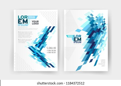 Vector EPS 10. Mock up and business design of 2 main pages. Magazine or book design. Branding identity design.