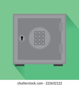 Vector  EPS 10  safe flat icon  with shadow  and combination button lock
