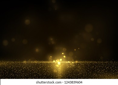 Vector eps 10 shiny golden glitter dust effect. Sparkling gold particles background decoration