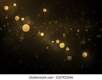 Vector Eps 10 sparkling gold bokeh, shiny particles explode abstract luxury background