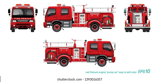 photograph about Fire Truck Template Printable known as Firetruck Pictures, Inventory Pictures Vectors Shutterstock