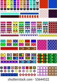 Vector eps8.  5 Different swatch patterns in multiple colors ready to drag & drop in your swatch or brush pallets, which are easily editable to the colors you want. Fill and brush examples are shown.