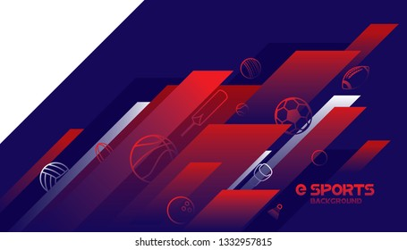 Vector esports with futuristic technology background design.