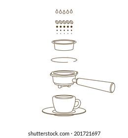Vector Espresso Brewing Scheme