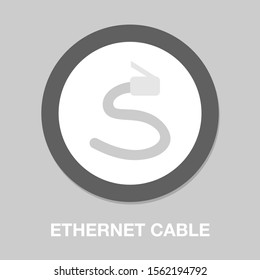 vector ethernet Cable illustration - network connection jack, socket symbol isolated