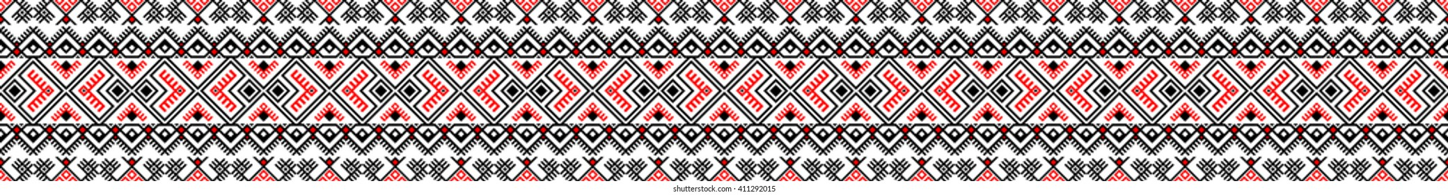 Vector. Ethnic endless stylish geometric seamless pattern. Template for design textile, backgrounds, wrappers, package, wallpaper