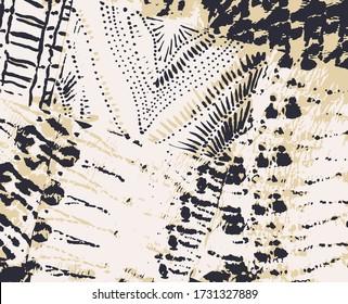 Vector Ethnic Patchwork. Tie Dye Mottled Texture. Indigo Watercolour. Animal Print. Shibori Print. Abstract Dye Art. Tie Dye Colorful. Beige Background. Boho Rug Design.