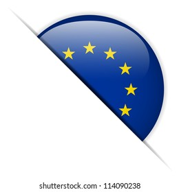 Vector - Europe Flag Glossy Button