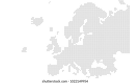 Vector - europe map dotted large