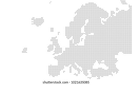Vector - Europe map grid large