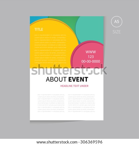 vector event brochure template design clean stock vector royalty