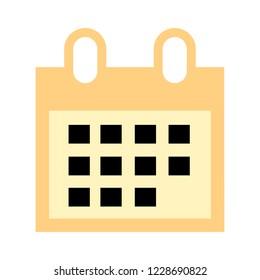 vector event calendar illustration isolated, office element - calendar icon