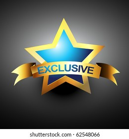 vector exclusive golden design icon