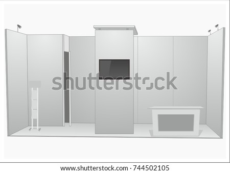 Exhibition Stand Design Concepts : Vector exhibition stand design concept blank stock vector royalty
