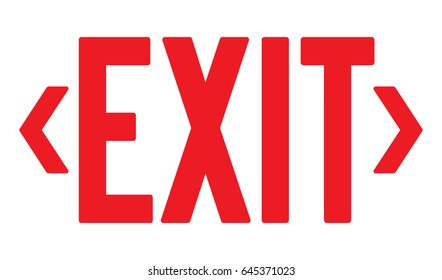 Vector exit sign with left and right arrows.