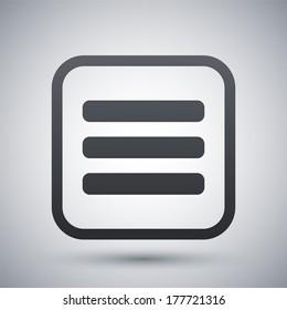 Vector expand menu button
