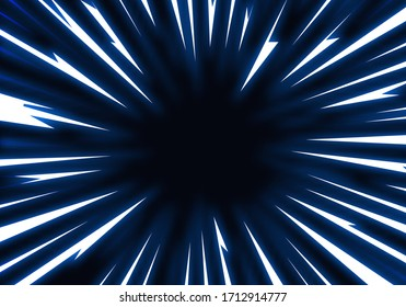 Vector Explosion Background with Shiny Thunderbolts. Abstract Glowing Energy Electric Effect