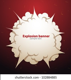 Vector explosion banner