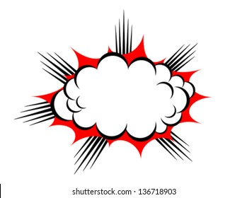 Vector explosion cloud