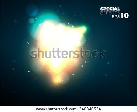 vector explosion template fireball special effect stock vector