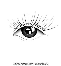 vector eye drawing