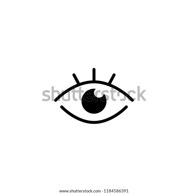 Vector Eye Editable Vector 64x64 Pixel Stock Vector (Royalty Free