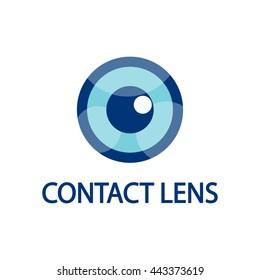 Vector Eye Logo, contact lens business card