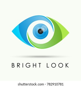 Vector of eye, object lens logo symbol or icon