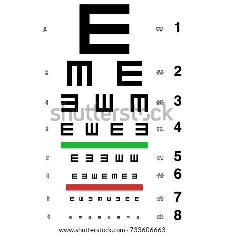 Vector Eye Test Chart Visual Acuity Stock Vector Royalty Free