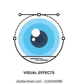 Vector of an eyeball briefing visual effect icon