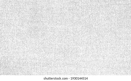 Vector fabric texture. Distressed texture of weaving fabric. Grunge background. Abstract halftone vector illustration. Overlay to create interesting effect and depth. Black isolated on white. EPS10.