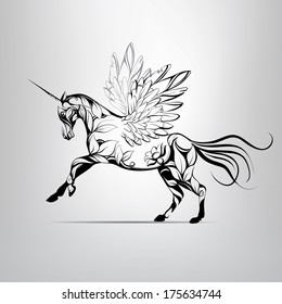 Unicorn Tattoo Images Stock Photos Vectors Shutterstock
