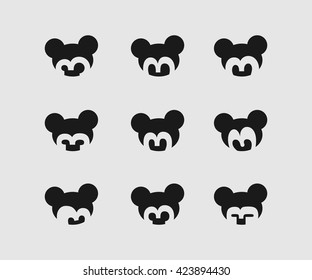 Vector Face Icons Illustration
