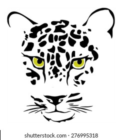 vector face of jaguar