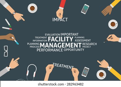 vector facility management concept,template
