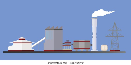 Vector factory biomass energy power plant