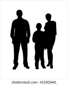 vector family silhouette