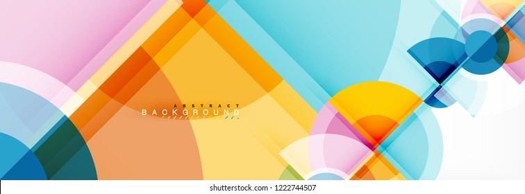 Vector fantastic circle modern geometric background template, abstract illustration