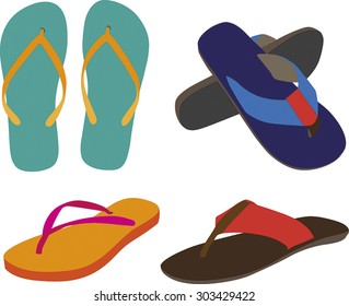 Vector fashion casual sandals/Casual Sandals/ Vector fashion casual sandals for template