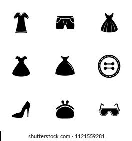 vector fashion design illustrations - woman shopping icons set. beauty accessories collection